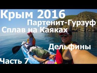 Крым 2016 Партенит, Каяки, Черное море, Гурзуф, Дельфины, Дайвинг, часть 7