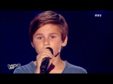 Qui a le droit - Patrick Bruel Martin The Voice Kids 2015 Blind Audition