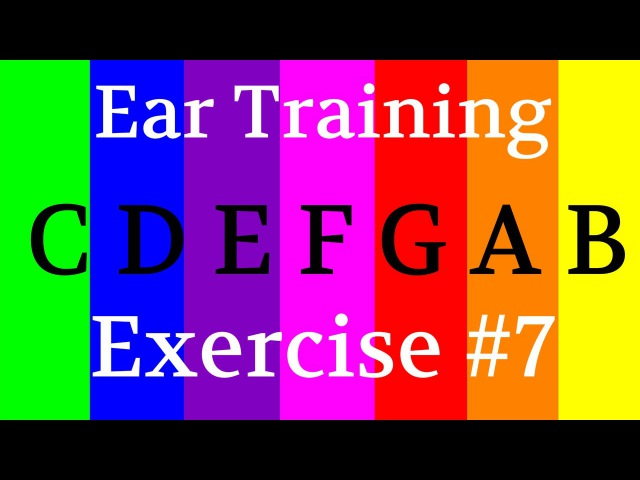 Perfect pitch Absolute pitch   Imprint notes in your brain with color   ear training intervals 7