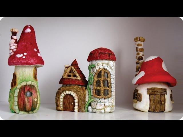 ❣DIY Faux Stones Wood - Fairy House Jars❣