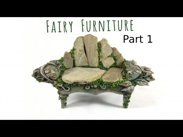 How to Make Fairy Furniture Out of Clay Rocks: Part 1, DIY Fairy Garden Bench