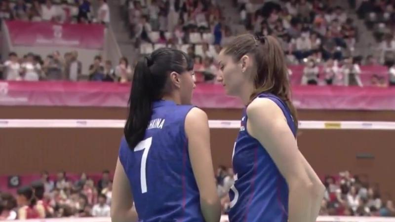 Екатерина Любушкина и Татьяна Кошелева после матча