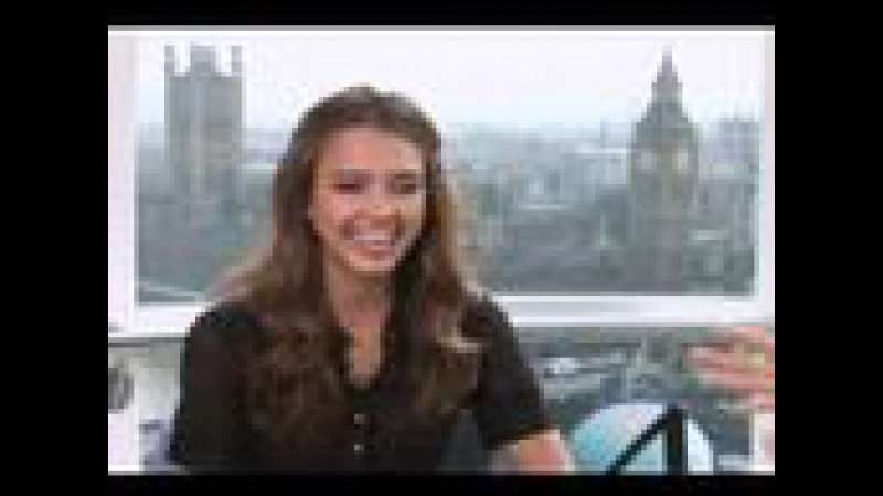 Jessica Alba superhero interview on the London EYE