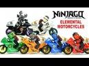 Ninjago Elemental Motorcycles Shields LEGO KnockOff Minifigure Set 32 w/ Garmadon