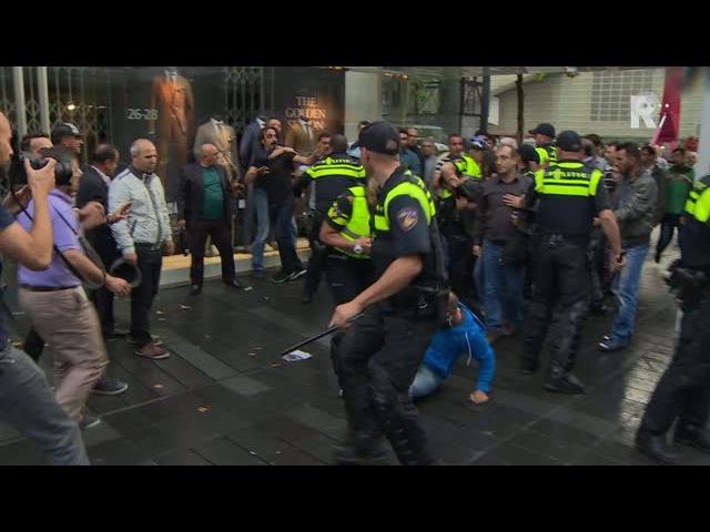Vechtpartijtjes na Koerdische demonstratie Rotterdam