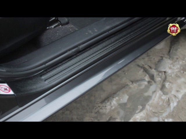 Накладки на внутренние пороги дверей Toyota Corolla XI E160 E170 седан russ