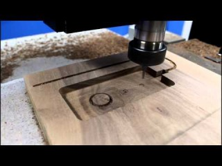 CNC Router Making an iPhone Wood Docking Station