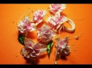 Fabric flowers how to make pink fuchsia from fabric tutorial Цветы из ткани розовая фуксия МК