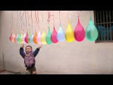 20 Face Balloons Compilation Funny wet balloon Finger Family Nursery Colors Song For Kids