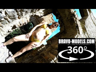 360 VR video - Czech glamour model ZENA LITTLE sexy posing outdoor with new bikini