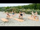 Тренировка на пляже, силовая часть, студия Lady Cat