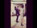 Оскар и Карла Кеведо танцуют на съемках Покажите мне героя