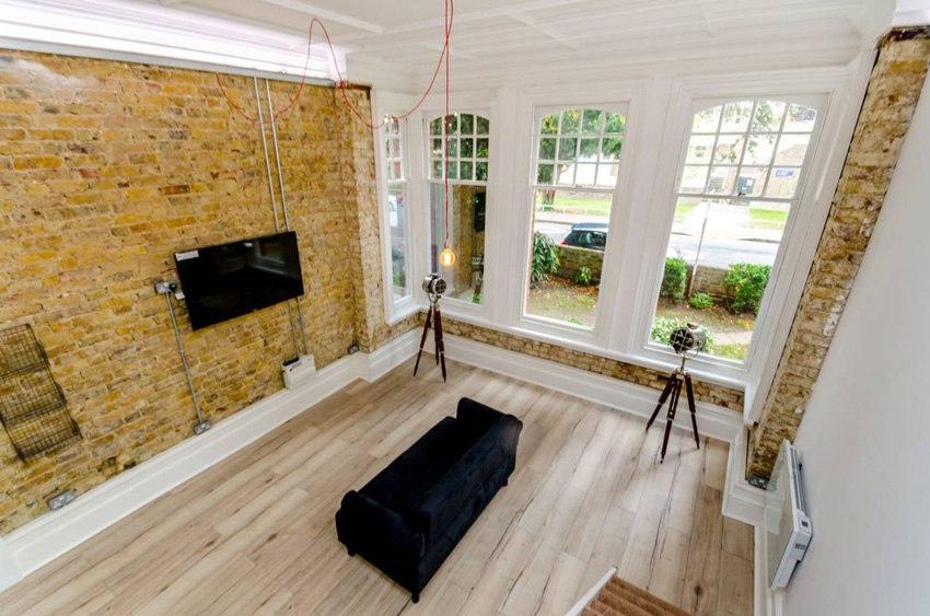 Двухуровневый аскетичный лофт 32 м в Лондоне.