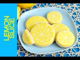 LEMON SLICE COOKIES TUTORIAL, DECORATING WITH ROYAL ICING