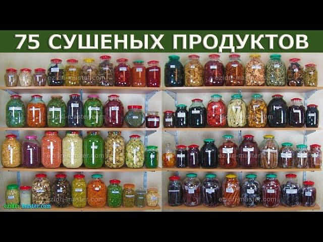 Мы высушили 75 продуктов в Ezidri. Посмотрите на результаты.