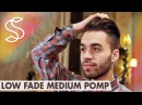 Low Fade Medium Pomp - Classic Gentleman Hairstyle - Men's hair