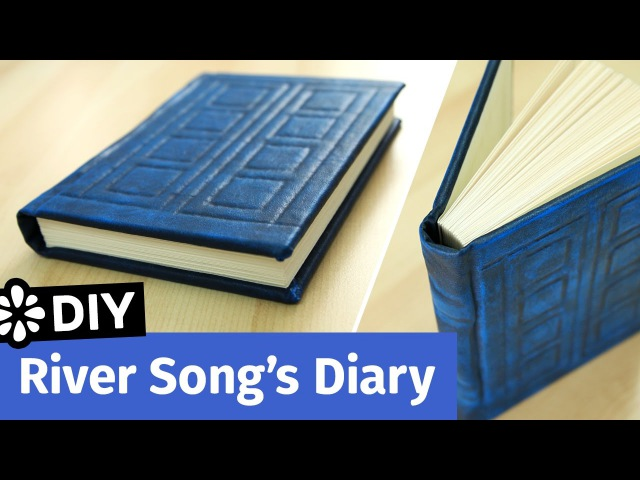 Doctor Who DIY River Songs Diary TARDIS Journal Sea Lemon