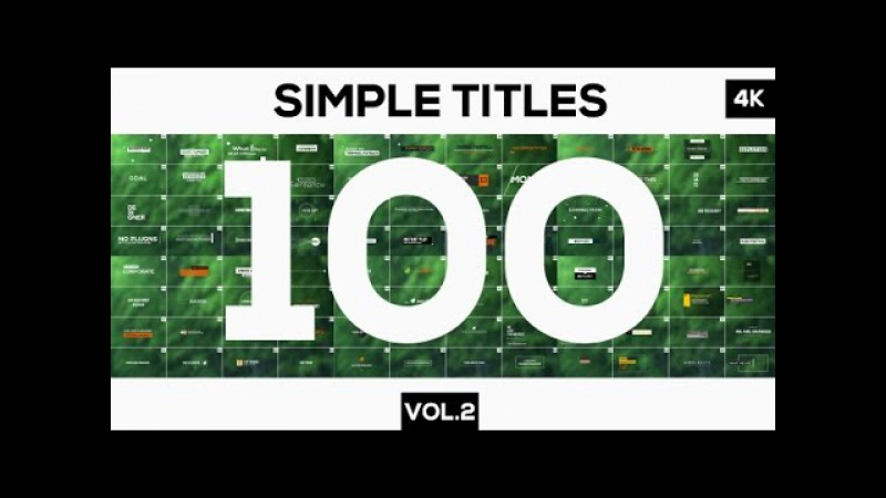 100 Simple Titles and Lowerthirds Vol.2 | After Effects template