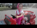 Маша катается на электромобиле прыгает на батуте с друзьями Мультик МАША И МЕДВЕДЬ 3 серия!