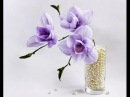 Ribbon flowers: magnolia/tutorial/Цветы из лент: магнолия. МК