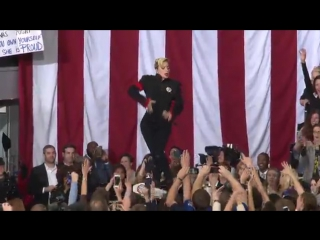 Lady Gaga - Born This Way LIVE (Get Out the Vote Rally for Hillary Clinton )