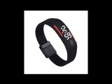 Мужские женские силиконовые электронные LED наручные спортивные часы браслет S16 Купить в Китае на AliExpress. US $1.57 (~100 ру