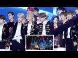 170114 BTS, Red Velvet reaction to Rain - Rainism @ Golden Disk Awards