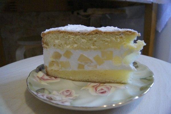 Рецепт торта с творогом и сливками