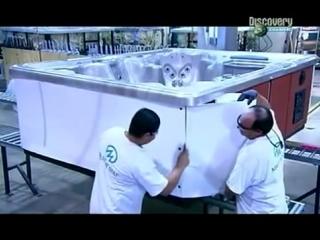 Гидромассажные ванны: производство. Цикл передач Как это работает?