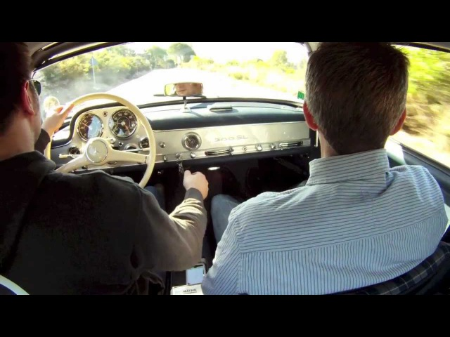 Jens and Jan are driving the Mercedes Benz SL 300 Coupé Gullwing W198