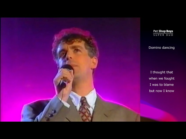 Pet Shop Boys - Domino Dancing (Berolina) Lyric video