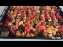 Fırında Sebzeli Tavuk Çöp Şiş