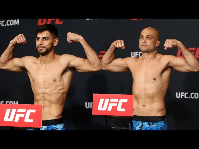 UFC Fight Night 103 Official Weigh Ins Yair Rodriguez vs BJ Penn