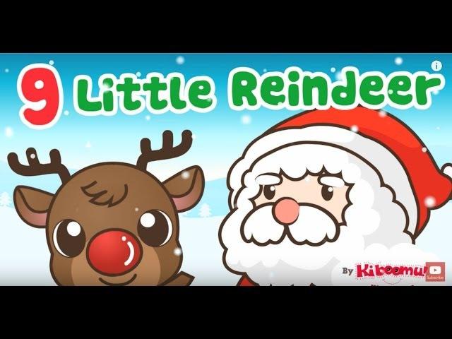 9 Little Reindeer | Santa's Reindeer | Kids Christmas Songs | The Kiboomers