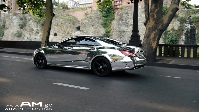 CLS Silver Chrome - Car Wrap - AM.ge