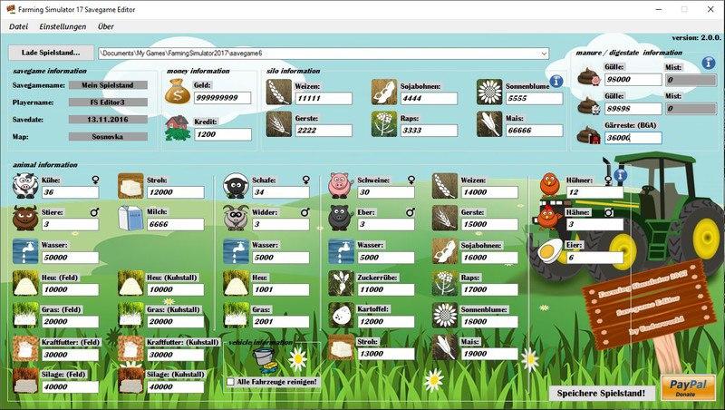 Savegame Editor v 2.0.0
