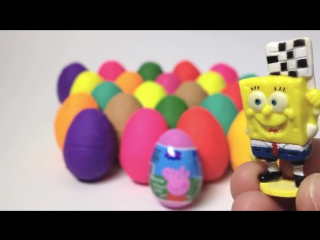 Play Doh Eggs Peppa Pig Surprise Egg Angry Birds Mickey Mouse Thomas
