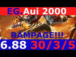 Dota 2 clinkz Aui 2000 RAMPAGE KDA - 30/3/5