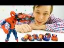 Игры машинки: видео про игрушки Человек Паук и другие! Новая машина Человека-Паука!