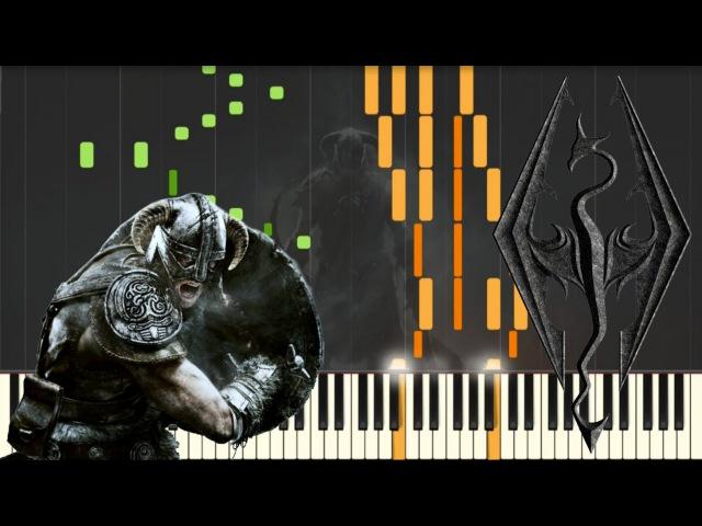 Skyrim Main Theme Piano Tutorial Synthesia Kyle Landry SHEETS MIDI