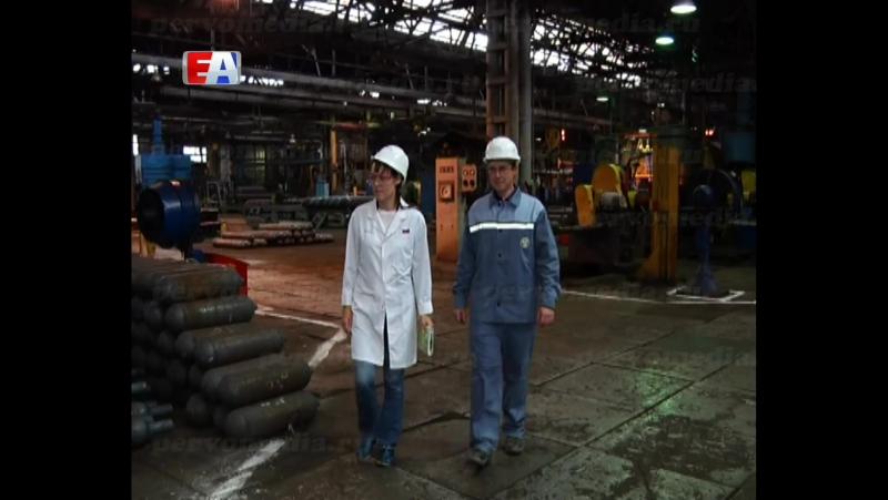 Один из лучших рационализаторов Новотрубного завода трудится в баллонном цехе