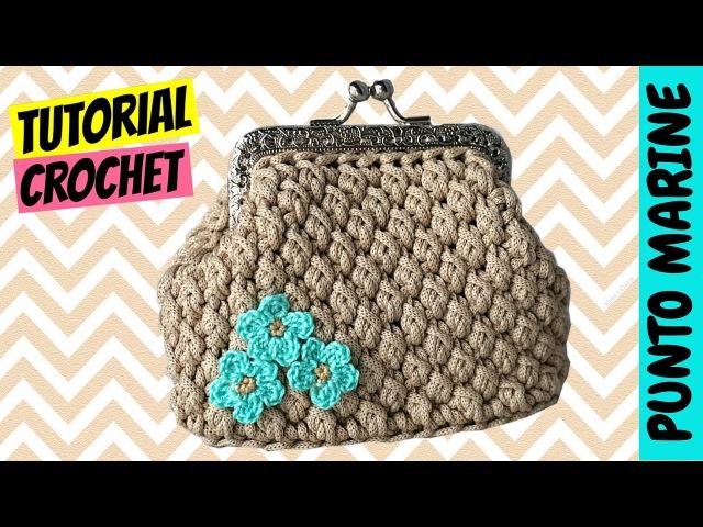 Tutorial uncinetto punto Marine Crochet Marine stitch Katy Handmade