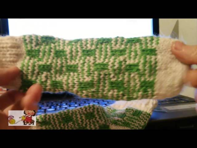 Вязание спицами Жаккардовый Узор Детские Носки Вязание на пяти спицах