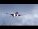 Аэрофлот Airbus 321 посадка Cross wind sideslip landing spring UUEE
