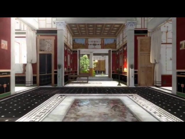 Walk around in a 3D splendid house from the ancient Pompeii