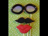 Mustache cookie pops for movember - cookie decorating