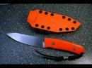 Нож Оранж от Алексея Ляха CPM 20CV (термичка Стерх, ножны Калашников).