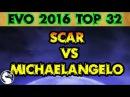 Mortal Kombat X Evo 2016 Scar vs Yomi Michaelangelo Top 32 MKX Tournament