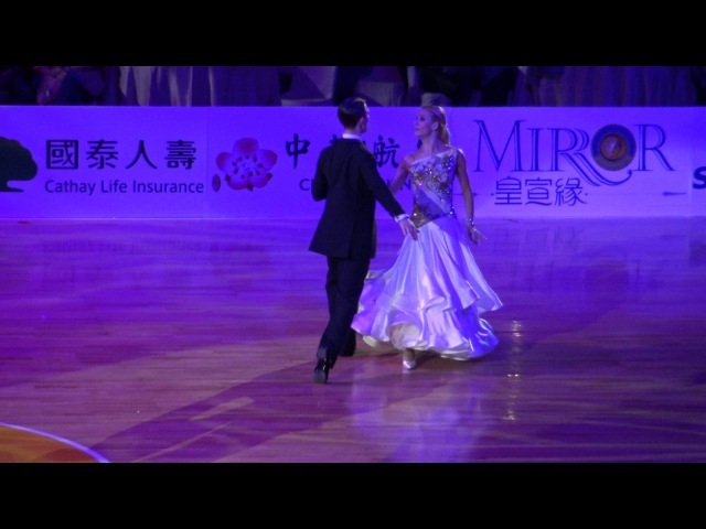 Arunas Bizokas Katusha Demidova - waltz 2016 Taiwan world super star show 舞王:4K