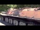 Разбитая колонна российских оккупантов под Донецком